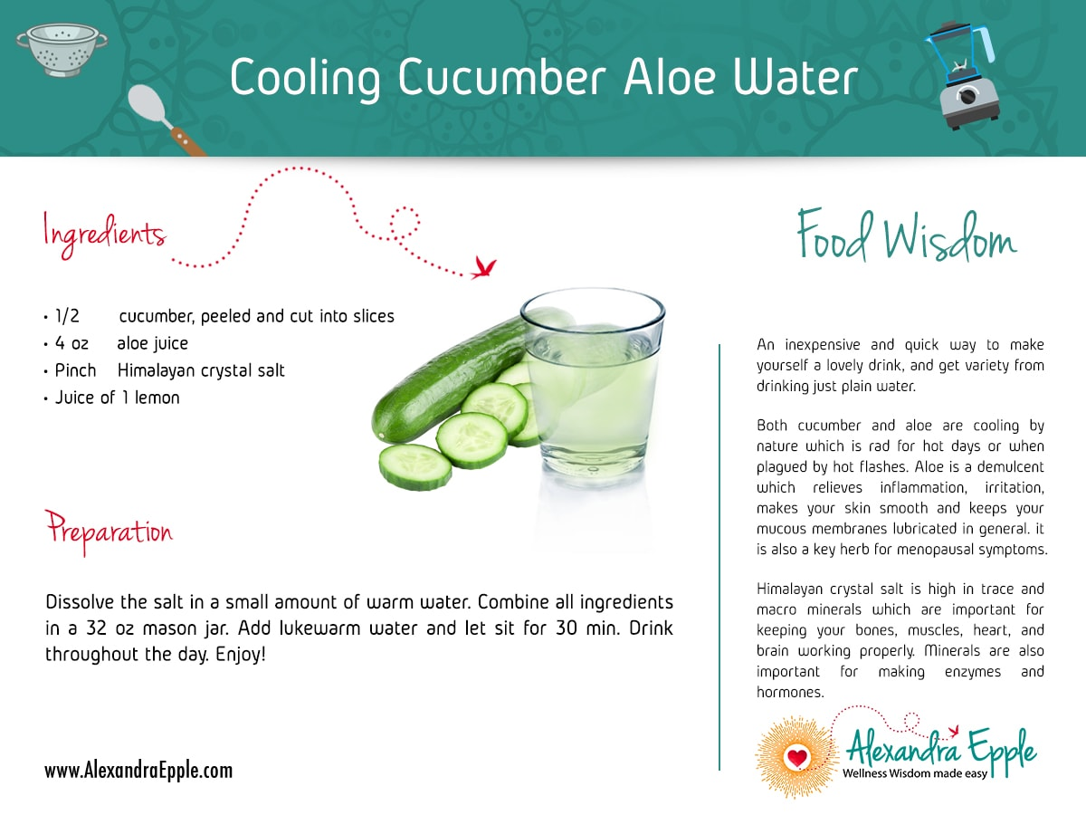 Cucumber Aloe Water