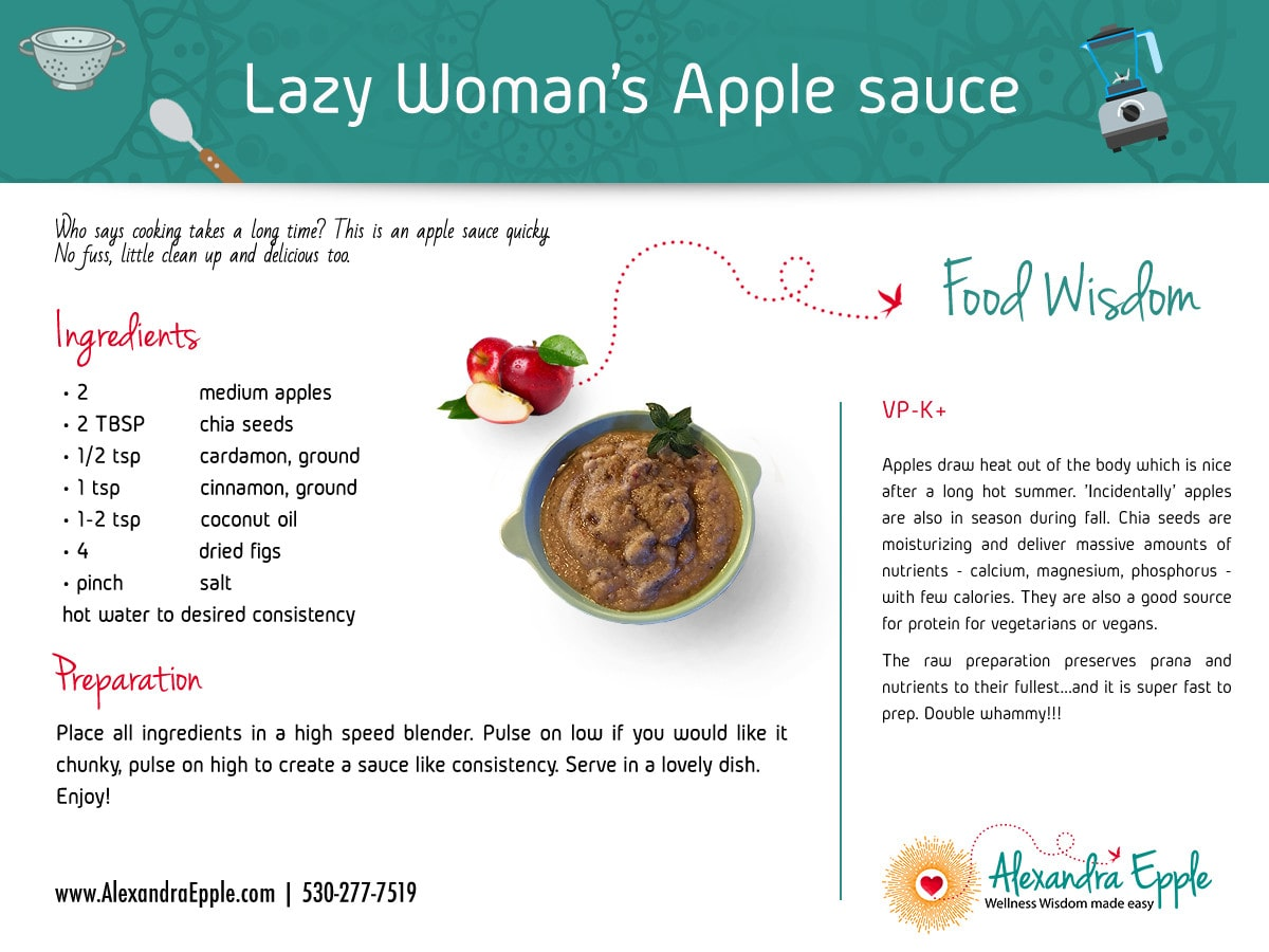 Lazy Woman's Apple Sauce