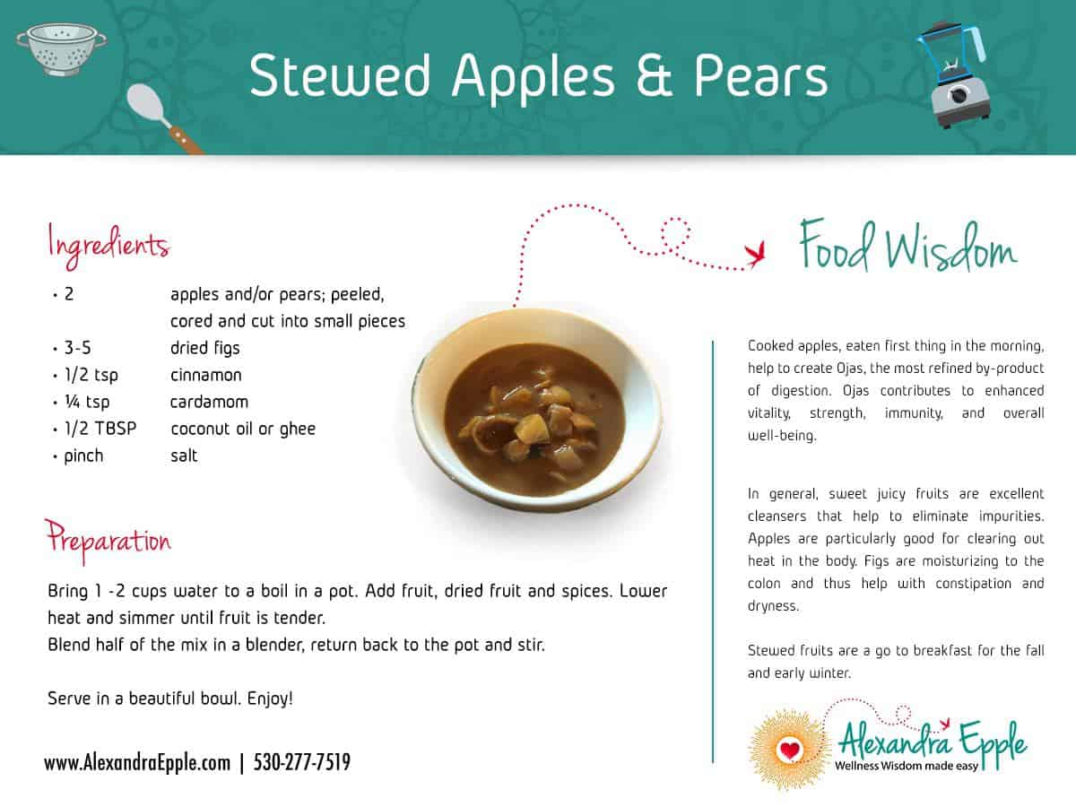Stewed Apples and Pears