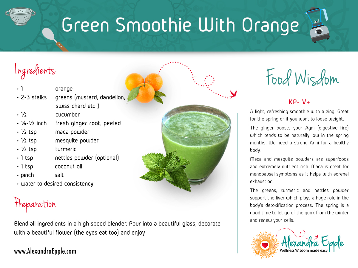 Green Smoothie with Orange