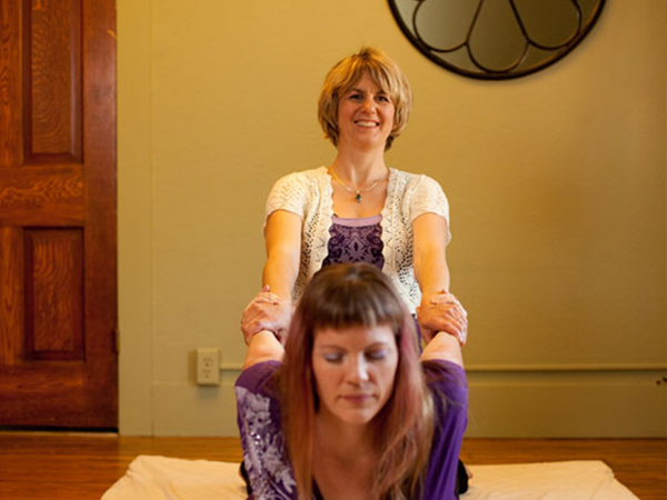 Thai massage cobra pose