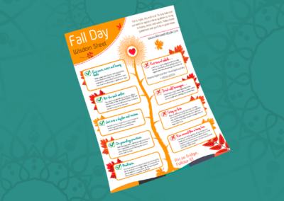Fall Day Wisdom Sheet