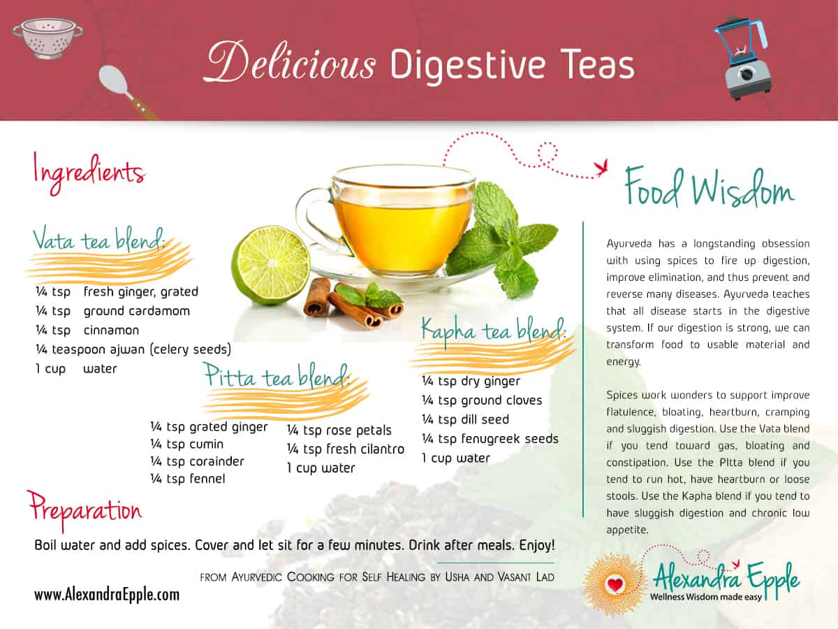 Delicious digestive teas
