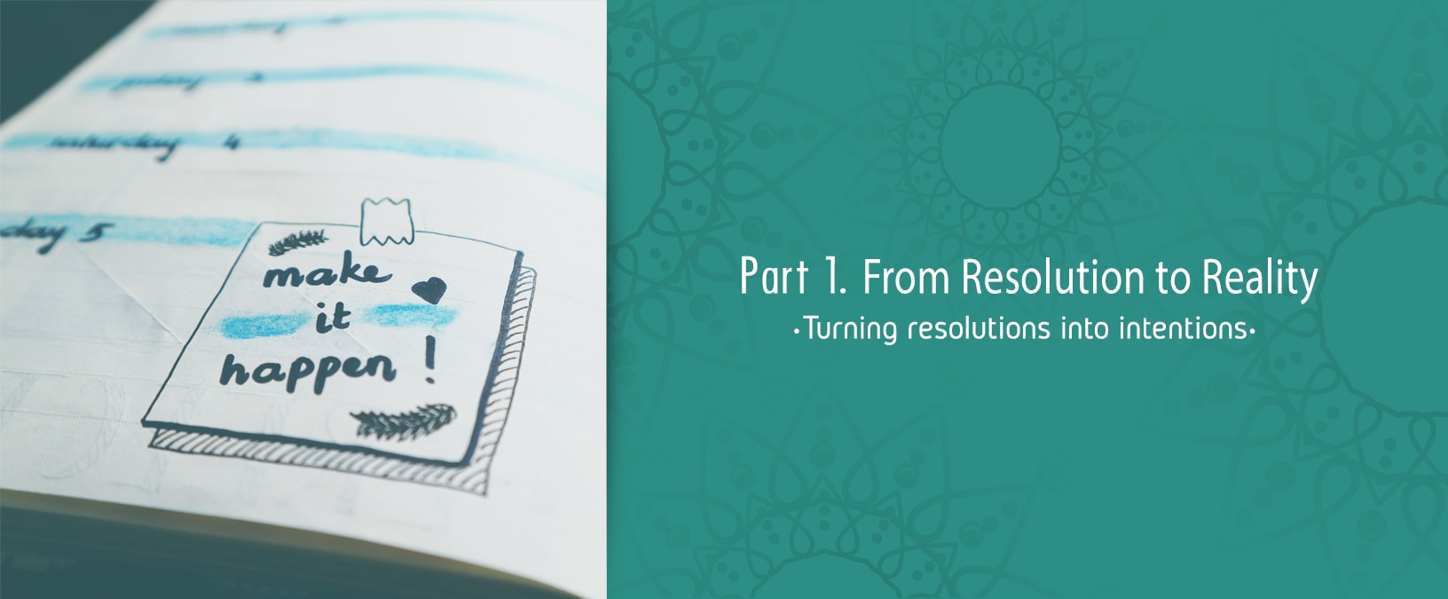 From Resolution to Reality: turning resolutions into intentions